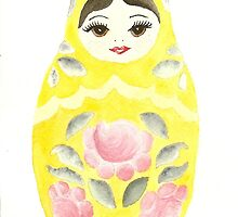 Russian Doll Yellow by Courtney Carlson