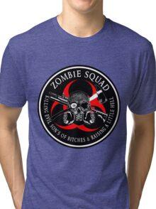 Biohazard Zombie Squad 3 Ring Patch  Tri-blend T-Shirt