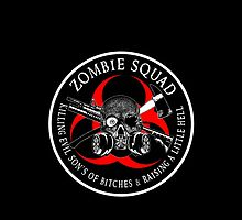Biohazard Zombie Squad 3 Ring Patch  by ratherkool
