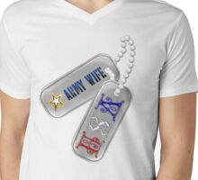 Army Wife Tags Mens V-Neck T-Shirt