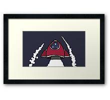 Zoom, Zoom Rocket Framed Print