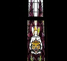 Stained glass window,St George's RAF Chapel, Biggin Hill, Kent, by Keith Larby