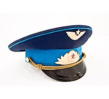USSR Airforce officer cap with badges Photographic Print