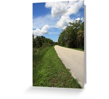 The Lonely Road Greeting Card