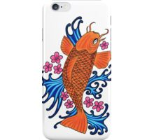 fish with water and blossom iPhone Case/Skin