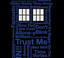 Tardis Text by LemonLad