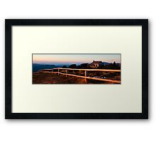 Craigs Hut Panorama Framed Print