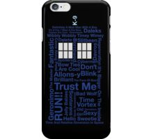 Tardis Text iPhone Case/Skin