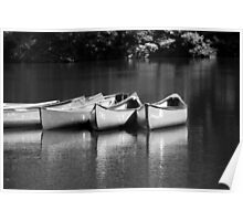 Canoes on the Chattahoochee River Poster