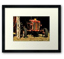 Tractor Shed Framed Print