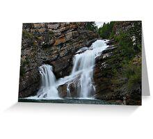 Camron Falls, Waterton Lakes, Alberta Canada Greeting Card