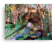 My  Painting    of /   The Little Bridge, Pontoise  /       (  My Paintings  ) Canvas Print
