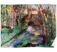 My  Painting    of /   The Little Bridge, Pontoise  /       (  My Paintings  ) Poster