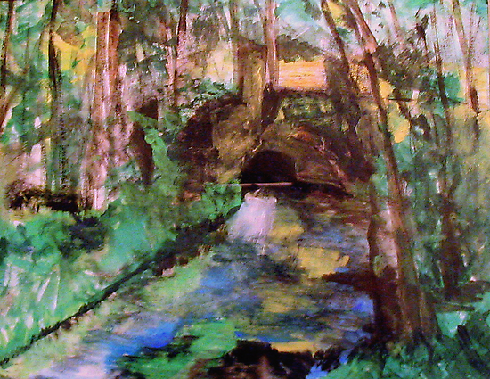 My  Painting    of /   The Little Bridge, Pontoise  /       (  My Paintings  ) by Rick  Todaro