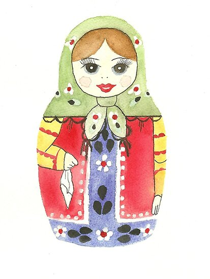 Russian Doll With Green Top by Courtney Carlson
