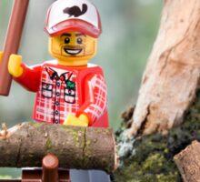 Lego Lumberjack Sticker