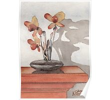 Mantel Flowers Poster