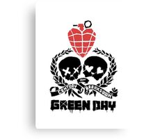 Green day Logo Canvas Print