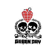Green day Logo Photographic Print