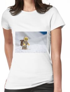 Skiing Lego Eskimo  Womens Fitted T-Shirt