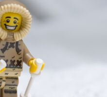 Skiing Lego Eskimo  Sticker