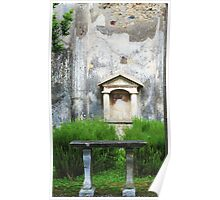 Pompeii - Ruins of a small garden temple Poster