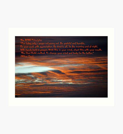 Reiki Principles Art Print