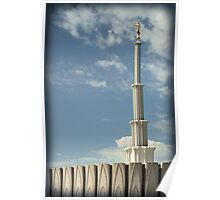 Provo Temple - Blue Skies Poster