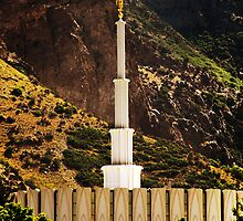 Provo Temple - Late Morning Light by Ryan Houston