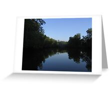 Rollin' down the river. Greeting Card