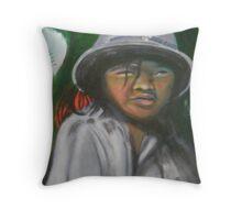 Saigon Soldier Throw Pillow