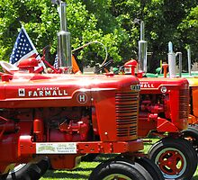 Restored Tractors display at Farmer's Market Ogden, 2009 by Jan  Tribe