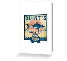 Quint's Shark Fishing Greeting Card