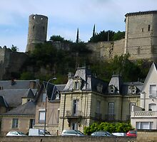Counterpoised 18th and 15th Centuries Chinon France by Keith Richardson