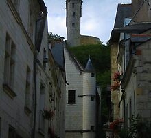 Medieval Clock Tower Chinon by Keith Richardson