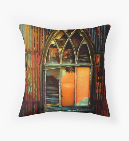 shanty church Throw Pillow
