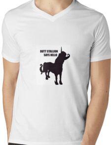 Butt Stallion Mens V-Neck T-Shirt
