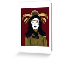 Seraphim in Repose - Burgundy Background Greeting Card