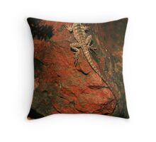 Red Rock Bearded Dragon Throw Pillow
