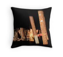 Rusted Rods. Throw Pillow
