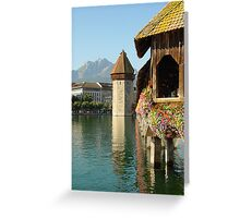 Lucerne Water Tower Greeting Card