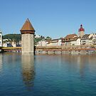 Lucerne, view facing Old Town by Susan Misicka