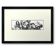 Brooklyn Nine-Nine Cast Framed Print