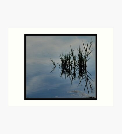 reflections in wadden sea Art Print