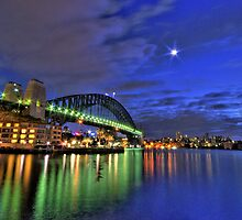 Starlight Star Bright - Moods Of A City Sydney Harbour - The HDR Experience by Philip Johnson