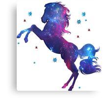 Space Horse, Universe, Kosmos, Galaxy, Star Canvas Print