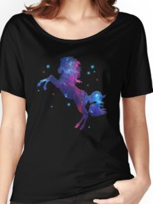 Space Horse, Universe, Kosmos, Galaxy, Star Women's Relaxed Fit T-Shirt