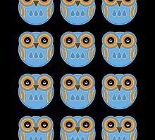 Blue Owls by Louise Parton