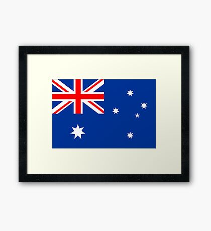 Australia, national id Framed Print