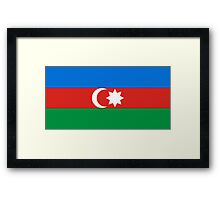 Azerbaijan, national id Framed Print